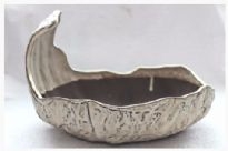 Bonsai Pot, Primitive Oval, 25cm, Cream, Glazed